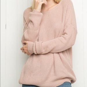 Brandy Melville one size pink Ollie knit sweater